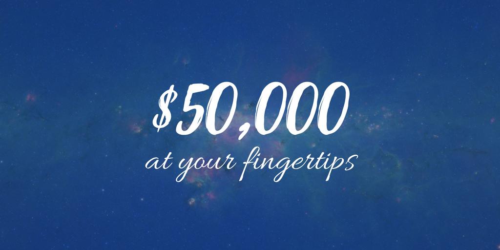 $50,000