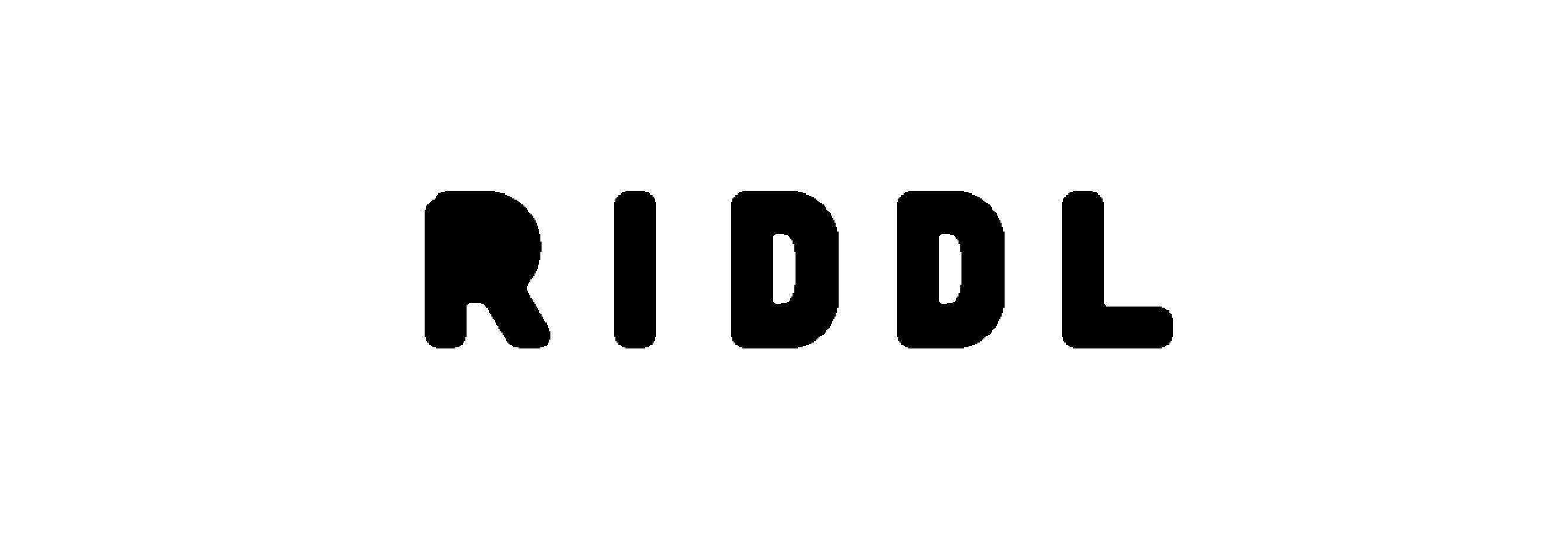 RIDDL – Wordmark R (BLACK)